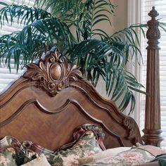 pulaski edwardian bedroom - King bed post headboard