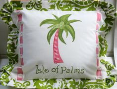 SALE Isle of Palms Pillow Cover by LemondaisyDesign on Etsy