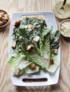 Best caesar salad recipe www.abeautifulmess.com  ☀CQ #salad #dressing