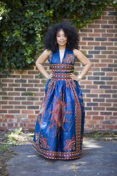 Image of NEW Blue Dasmina Cross Back Dress