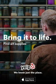 Looking for the right art supplies? Need help bringing the canvas life? Whatever your needs, Yelp has tons of great local reviews from millions of users. Get the App and start