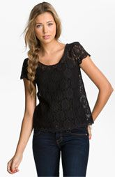 Frenchi® Lace Tee (Juniors)