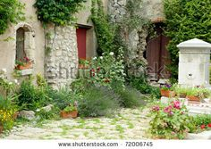 Google Image Result for http://image.shutterstock.com/display_pic_with_logo/59632/59632,1298732840,6/stock-photo-view-on-a-typical-rustic-provence-garden-in-france-72006745.jpg