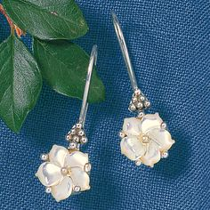 Mother Of Pearl Flower Earrings - Women's Clothing, Unique Boutique Styles & Classic Wardrobe Essentials Flower Earrings, Women's Earrings, Silver Earrings, Bling Jewelry, Jewelery, Fashion Earrings, Fashion Jewelry, Mother Of Pearl Jewelry, Mother Pearl