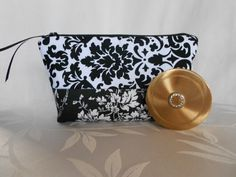 Cosmetic Bag Quilted/ Travel Bag by RubysQuiltShop on Etsy