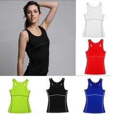 Lady Sprots Casual Yoga Quick-Drying Tight Sleeveless Tank Tops Shirts Vest Hot