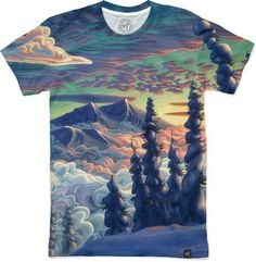 Mountains In My Mind Men's T-Shirts by Chili Thom | Nuvango Chili, Tie Dye, Mountains, Awesome, Casual, Artwork, Mens Tops, T Shirt, Stuff To Buy