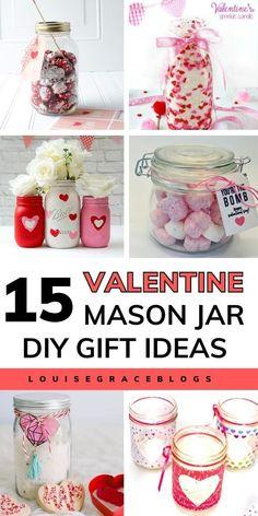 Diy Gifts In A Jar, Mason Jar Gifts, Mason Jar Candles, Mason Jar Diy, Homemade Gifts, Valentine Day Love, Valentine Crafts, Holiday Crafts, Holiday Ideas