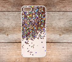 iPhone 5s Case, iPhone 5c Case  iPhone 5 Case rubber cover skin case for iphone 5 case,More styles Sparkle Glitter on Etsy, $6.99