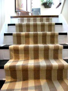 striped jute stair runner