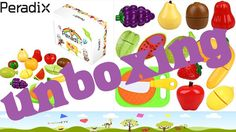 Unboxing Peradix Cutting Fruit Pretend Play Toys Fruits Set