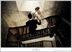 Staircase at Millennium Center {Winnipeg Wedding Photography}