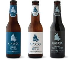 label / Einstok beer