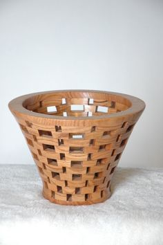 Hand Turned Wood Basket