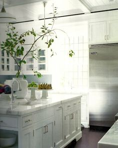 ARTICLE: Loving A White Kitchen | Image Source:  Elle Decor  | CLICK TO READ... http://carlaaston.com/designed/loving-a-white-kitchen