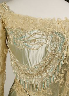 ~Dress, Evening. House of Worth (French, 1858–1956). Date: 1890s. Culture: French. Medium: silk~