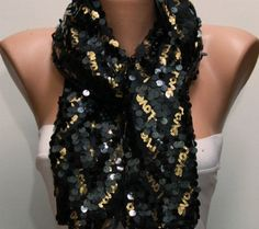 Sequin Love Scarf  - by fatwoman, $23.00