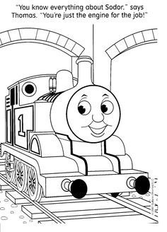 Image detail for -Free Thomas The Train Coloring Pages - Could be good to have a coloring table for the older kids. @Suzee Collinsworth Loughmiller @Karen Jacot Jackson