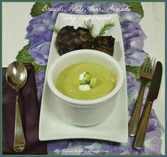 Broccoli, Potato, Pear, Avocado, Silky Soup Chopped on MyRecipeMagic.com