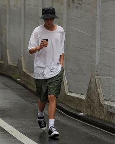 Japan Fashion, Daily Fashion, Outfit Man, Baggy Clothes, Japanese Street Fashion, Streetwear Fashion, Men Dress, Menswear, Street Style