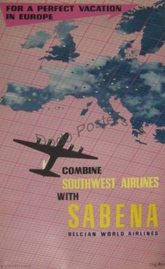 Sabena – SouthWest Airlines – Vacation in Europe