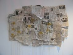 Newspaper Embroidery.