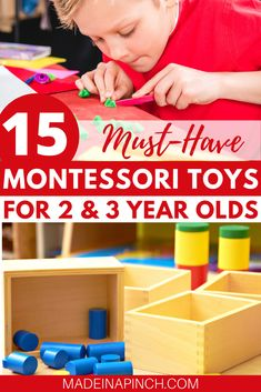 Need Montessori toys for toddlers and preschoolers? Finding great Montessori toys for two year olds and three year olds is super easy with this gift guide of the best learning toys perfect for your 2 year old or 3 year old! Must-have educational toddler toys and natural, wooden toys. #montessori #montessoritoddler #toddlertoys #learningtoysfortoddlers #learningtoys Crafts For 2 Year Olds, Activities For 2 Year Olds, Toddler Learning Activities, Montessori Toddler, Toddler Preschool, Toddler Crafts, Kids Learning, Montessori Bedroom, Learning Games
