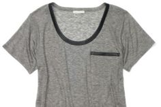 CM tee with leather trim <3