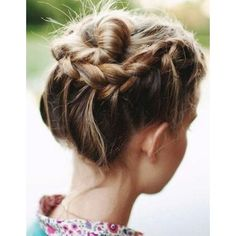 Short Prom Updos Hairstyles In 2020 10 Updo Hairstyles for Short Hair Popular Haircuts Short Hair Updo, Braided Hairstyles Updo, Braids For Short Hair, Pretty Hairstyles, Braided Updo, Updo Hairstyle, Braid Hair, Twisted Braid, Hairstyle Ideas