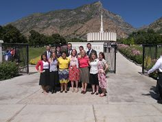My district at the MTC visiting the temple