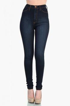 OMG High Waist Dark Blue Jean