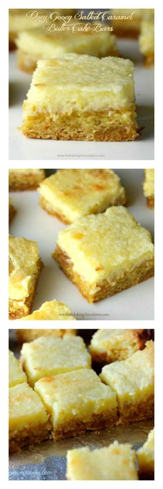 Ooey Gooey Salted Caramel Butter Cake Bars ~ The baking ChocolaTess Dessert Simple, Sweet Desserts, Easy Desserts, Ooey Gooey Butter Cake, Butter Cakes, Butter Pie, Salted Butter, Gooey Bars, Salty Cake