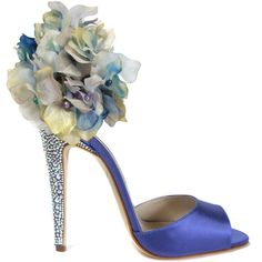 BRIAN ATWOOD Escarpins ($3,675) ❤ liked on Polyvore featuring shoes, sandals, heels, scarpe, blue, women, brian atwood sandals, brian atwood shoes, blue shoes and satin bridal shoes