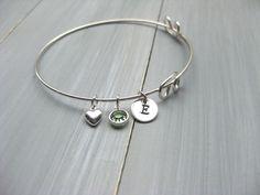 Sterling Silver Bangle Bracelet Adjustable Bangle by ESDesigns14