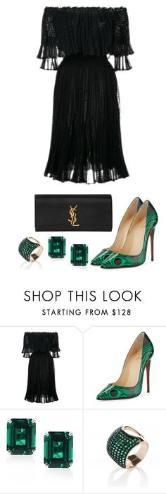 """Hesitated"" by preciousabebe ❤ liked on Polyvore featuring Alexander McQueen, Christian Louboutin, CARAT* London and Yves Saint Laurent"