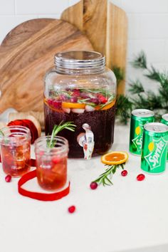 The Best Holiday Punch Recipe featured for any party or occasion! Make it with alcohol or keep it family friendly, both are delicious! By popular Florida lifestyle blog, Fresh Mommy Blog