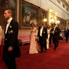Last night The Duke and Duchess of Cambridge and Prince Harry attended the State Banquet in honour of King Felipe and Queen Letizia of Spain.