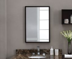 Are you searching for bathroom mirror ideas and inspiration? Easy bathroom updates, Framed bathroom mirrors and Framing a mirror.