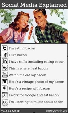 Social Media Explained with Bacon! :)