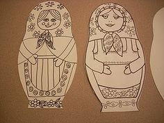 Must do a project with Russian dolls soon- did it- 4th grade 2013