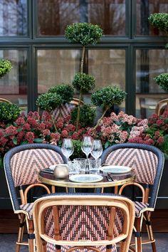 arrondissement in Paris Interior And Exterior, Interior Design, Cafe Bistro, Paris Cafe, Beautiful Flowers Garden, French Bistro, Paris Restaurants, Commercial Interiors, Coffee Shop