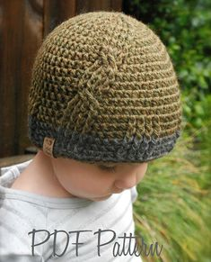 Crochet PATTERN-The Oliver Hat (Toddler, Child, Adult sizes)