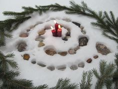 Simple outdoor yule altar                                                                                                                                                                                 More