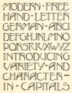 "From the public domain ebook, ""Lettering"" published in 1916. Download in epub, kindle or pdf format here: https://archive.org/details/lettering00stev"