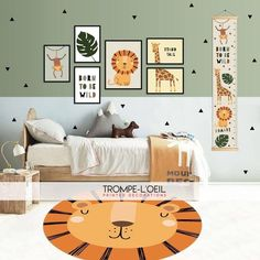 Take your baby on an African safari by decorating his nursery in a jungle theme. Baby Bedroom, Baby Boy Rooms, Nursery Room, Kids Bedroom, Nursery Decor, Safari Room, Baby Room Neutral, Baby Room Design, Nursery Design