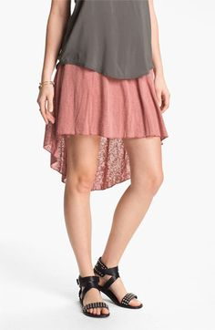 High/Low Burnout skirt Pretty Clothes, Pretty Outfits, Mullet Dress, Cri, Jersey Skirt, High Low Skirt, Diy Pins, Fashion Beauty, Womens Fashion