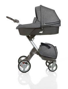 limited edition stokke stroller. In my favorite Black Melange fabric!
