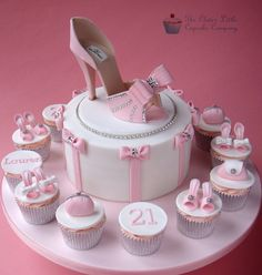 Pink Shoe Celebration Cake   by The Clever Little Cupcake Company