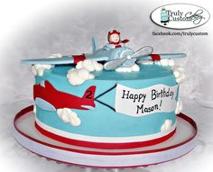Stacey's Sweet Shop - Truly Custom Cakery, LLC: A Plethora of Pretty Cakes Airplane Birthday Cakes, 2 Birthday Cake, Airplane Cakes, Airplane Party, Cupcakes, Cupcake Cakes, Planes Cake, Novelty Cakes, Cakes For Boys