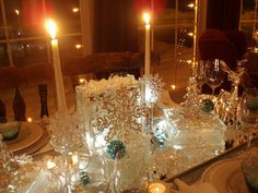 Dining Delight: Snowflakes & Ice
